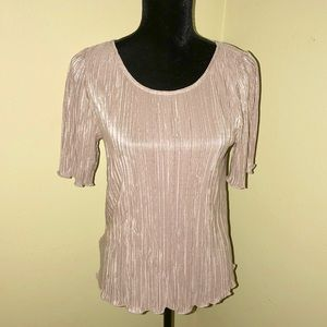 NEW ANN TAYLOR Shimmering Silver/Gold Top-Size Med
